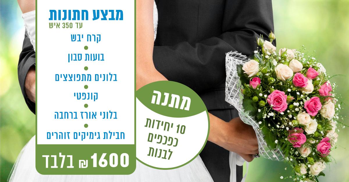 מבצע חתונות - עד 350 איש